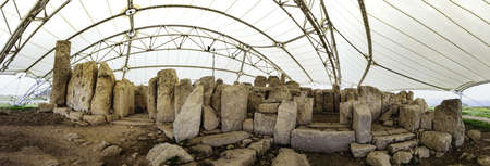 stoneage: This Hagar Quim temple on Malta is even older that Stonehenge and the Pyramids