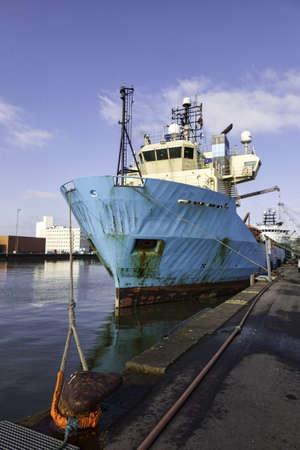 Offshore harbor in Esbjerg, Denmark Stock Photo - 18136348