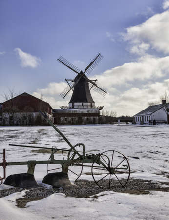 Old Damgaard windmill near Aabenraa in Denmark Stock Photo - 18646948