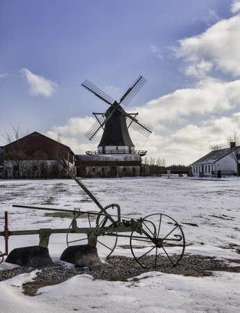 Old Damgaard windmill near Aabenraa in Denmark Stock Photo - 18646948