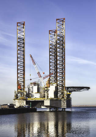 Offshore drilling rig in Esbjerg harbor, Denmark photo