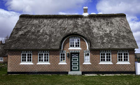 Traditional house in Sonderho on the danish island Fanoe
