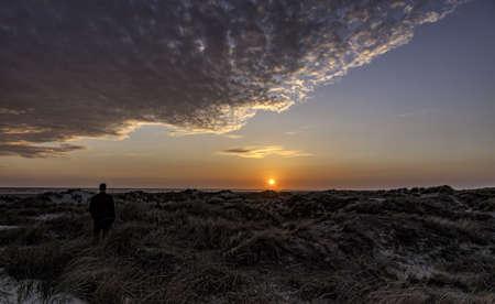 jutland: Wadden sea at sunset on Fano, Denmark