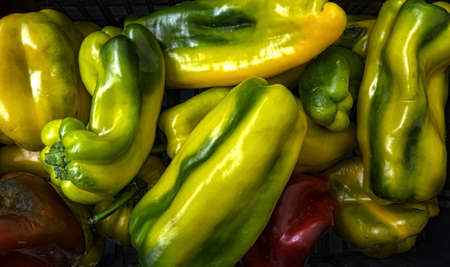 Colorful bell peppers, natural background Stock Photo - 20427704