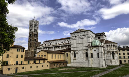 lucca: Dome of Lucca, Duomo di Lucca, in Tuscany, Italy