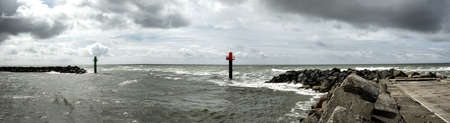 jutland: Entry to Thorsminde fishing harbor in Jutland, Denmark