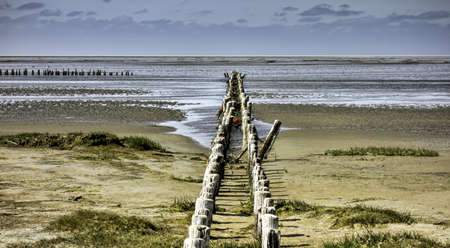Wadden sea from the island Mando, Denmark Stock Photo