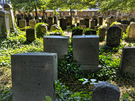 The Jewish cemetery in central Copenhagen, Denmark
