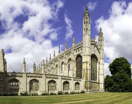 Kings college chapel Cambridge, UK Редакционное