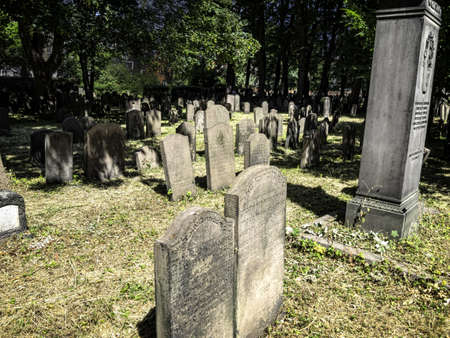The Jewish cemetery in central Copenhagen, Denmark photo