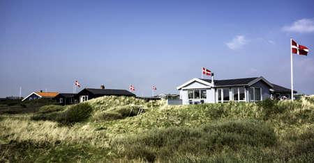 wadden: Summer houses at the island Fano in the Danish wadden sea
