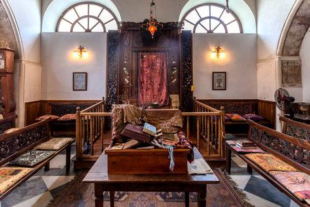 jewish prayer: Synagogue in Chania, Crete, Greece Editorial