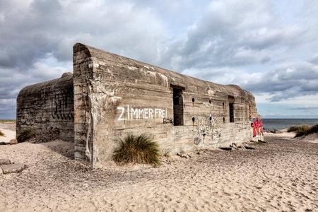 jutland: World war two bunker on Grenen in Skagen, Denmark