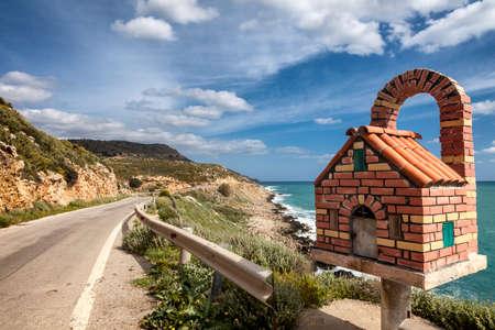 kreta: Roadside altar in Greece on Crete Stock Photo