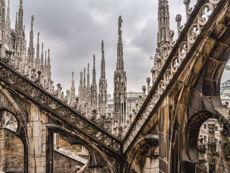 Rooftop of the Duomo in Milano photo