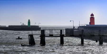 esbjerg: Panorama of entrance to Esbjerg oil harbor, Denmark
