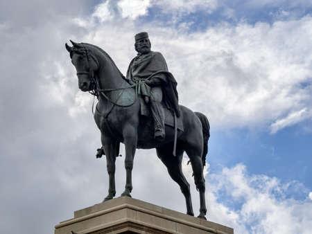 Garibaldi monument at top of Gianicolo in Rome, Italy photo