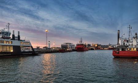 esbjerg: Panorama of Esbjerg oil harbor, Denmark