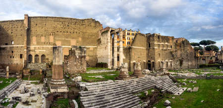 Augustus forum in Ancient Rome, Italy photo