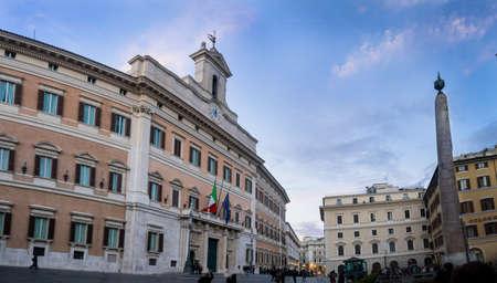 The Italian parliament in Rome, Italy
