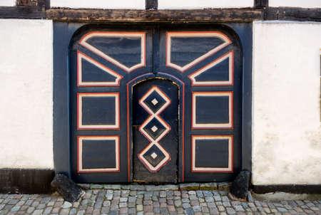 esbjerg: Antique door in Ribe, Denmark  the oldest town of Denmark