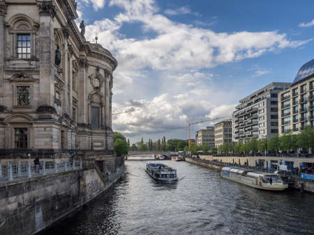 Museum island on Spree river  in center of Berlin, Germany photo