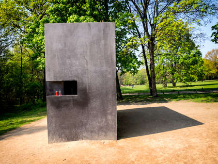 nazism: Memorial for Homosexuals Persecuted Under Nazism in Berlin, Germany  Stock Photo