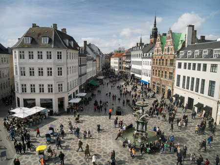 Amagertorv - central square in Copenhagen, Denmark Editorial