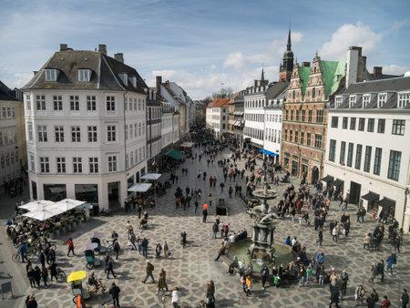 Amagertorv - central square in Copenhagen, Denmark Editorial