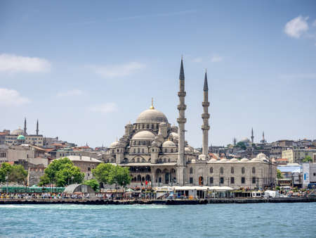 eminonu: Eminonu district in the city of Istanbul in Turkey with New Mosque