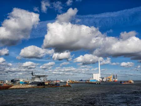 esbjerg: Esbjerg harbor Denmark, Metropol of energy Stock Photo