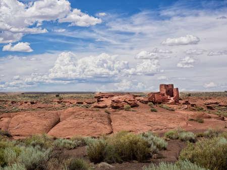 anasazi: Wukoki Ruins complex in Wupatki national monument, Arizona USA