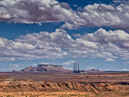 generating station: Navajo Generating Station coal-fired steam plant near Page, Arizona Stock Photo