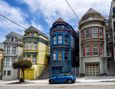 Painted Ladies victorian houses in San Francisco, USA photo