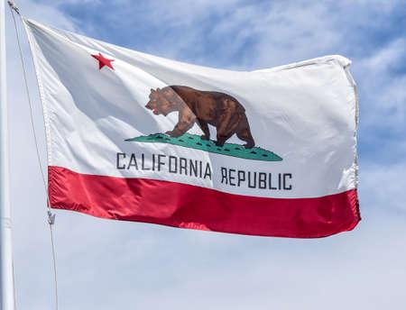 Vintage State Flag of California, USA