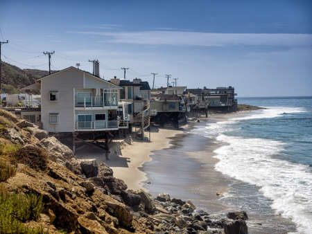 Houses at the Pacific Coast in California, USA photo