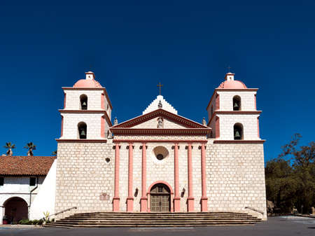 barbara: The historic Santa Barbara Spanish Mission in California, USA Stock Photo