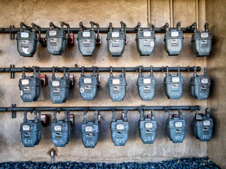 Smart gas meters for consumption in California