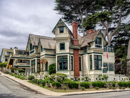 Old style building in Pacific Grove, Monterey, California, USA photo