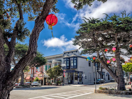 monterey: Old style building in Pacific Grove, Monterey, California, USA