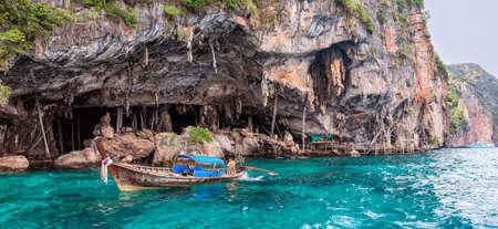 Viking Cave on PhiPhi Leh island near May a Beach, Thailand