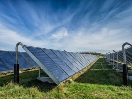 Solar water heating system in great scale photo