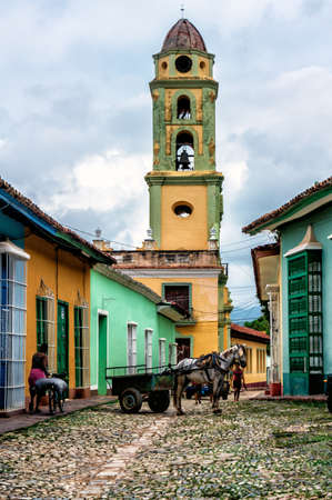 View of Trinidad street in Cuba