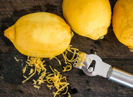 rind: Peeling lemon rind to add zest to cook