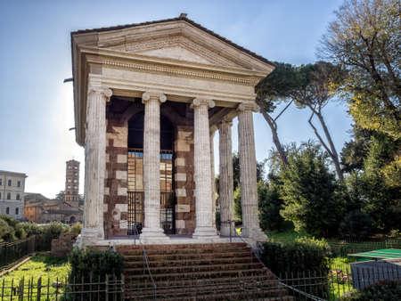 fortuna: Temple of Fortuna Virilis or Temple of Portunus in Rome, Italy. Stock Photo