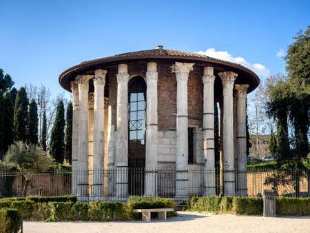 hercules: The Temple of Hercules Victor  in the area of the Forum Boarium in Rome.