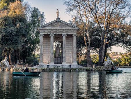 villa borghese: Temple of Esculapio, located at the beautiful park of villa borghese, Rome, Italy.