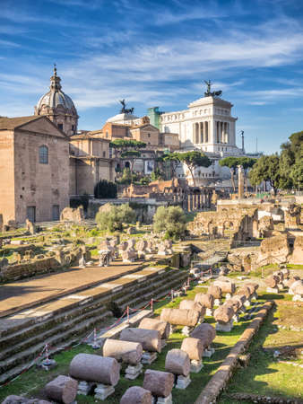 vittorio: Forum Romanum and monument of Vittorio Emanuele II, Rome, Italy
