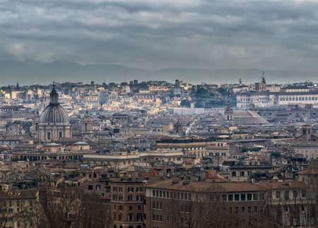 Panorama di Roma, con la skyline di Pantheon