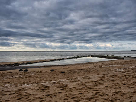 esbjerg: Beach Promenade at the Wadden sea in Hjerting, Esbjerg, Denmark